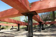 screw piles foundation timber beam binding 02