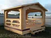 Besedka russian style prefabricated wooden pergola russian made for sale 10