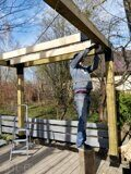 Prefabricated DIY Pergola assembling process 05