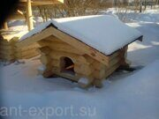 Russian style wooden doghouse made in russia 02