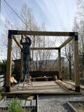 Prefabricated DIY Pergola assembling process 01