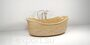 ash tree wooden bathtub made in russia