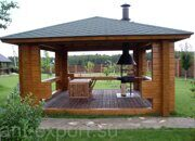Besedka russian style prefabricated wooden pergola russian made for sale 07