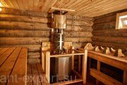 Russian banya steam bath wooden house inside 01