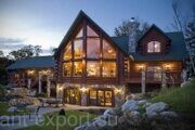 russian wood log house 452