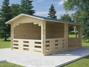 Besedka russian style prefabricated wooden pergola russian made for sale 09