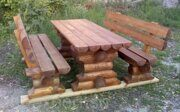 Russian style wooden table with benches made in russia 05