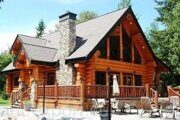 russian wood log house  4253