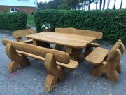 Russian style wooden table with benches made in russia 01