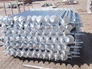 galvanized helical screw piles