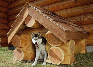 Russian style wooden doghouse made in russia 03