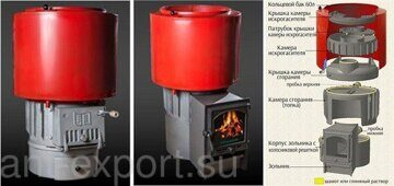 iron cast stove for steam bath for russian banya 08