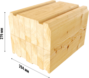 glue laminated timber used in assembling of wooden houses russia 01