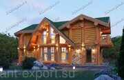 russian wood log house Belyaev-1
