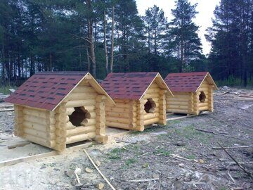 Russian style wooden doghouse made in russia 05