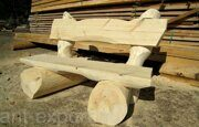 Russian style wooden bench made in russia 02