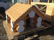 Russian style wooden doghouse made in russia 04