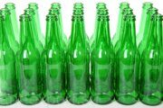 701090 glass green bottles