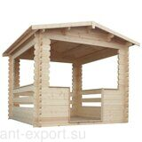 Besedka russian style prefabricated wooden pergola russian made for sale 11