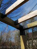 prefabricated DIY pergola corner joints with floor beam joints 04