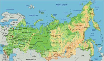 Russian map with vast net of roads ant-export.su