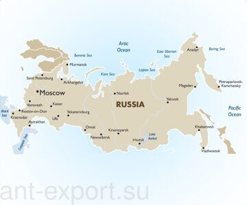 Russia map ant-export.su